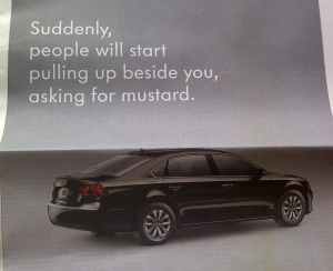 Volkswagen ad from the newspaper