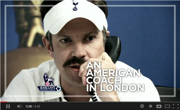 American Football coach Ted Lasso faces a long learning curve adjusting to the beautiful game