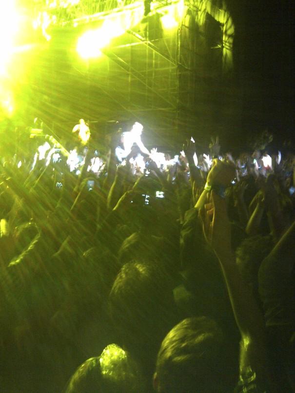 Macklemore crowd-walks