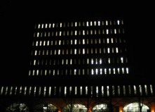 The University of Waterloo's Dana Porter Library, at night, during exams. Squint a little bit if you don't get why this is funny as hell.