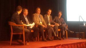 From left to right: Matt Stein (moderating), John Priest, Bill Basquin, myself, Ian Hood. [photo credit: Bill Sandiford]
