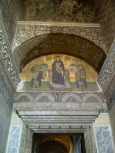 A random mosaic from the Aya Sofya.