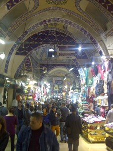 The Grand Bazaar. So like this, but stretching for kilometres in a labyrinth that may or may not have a Minotaur.
