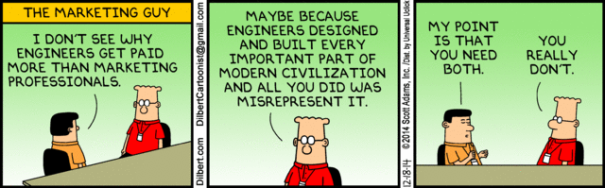 The December 18th, 2014 Dilbert strip.