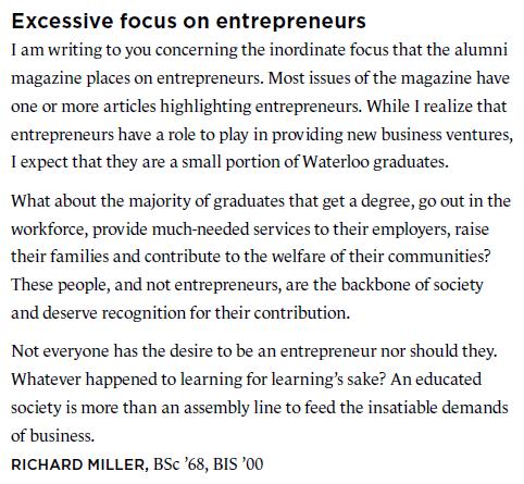 Focus on Entrepreneurs
