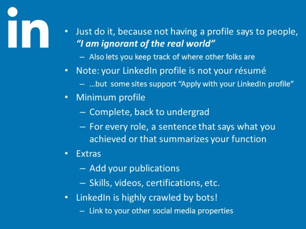 LinkedIn slide